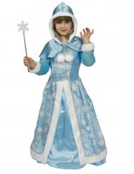 Udklædningsdragt smuk sne prinsesse til piger