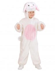 Hvid og lyserød kanindragt