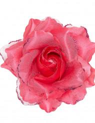 Lyserød rose til håret voksen