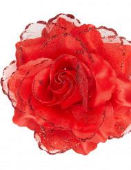 Rød rose til håret voksen