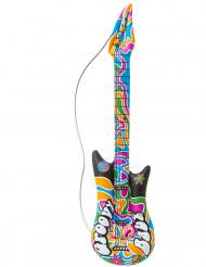 Oppustelig flower power-guitar 105 cm