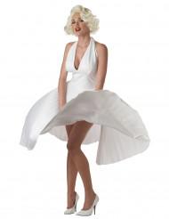 Hvid Marilyn-kjole Udklædning kvinde