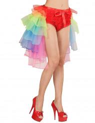 Flerfarvet burlesque-tylskørt voksen