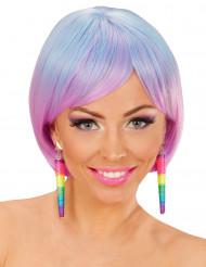 Multifarvede snoede øreringe