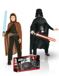2 Udklædningsdragter Jedi + Darth Vader - Star Wars™ til børn