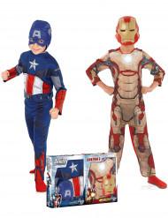 Pakke med kostume Captain America™ og Iron Man™ - Avengers™