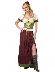 Udklædningsdragt Renæssancebondepige Voksen
