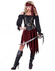 Kvindelig piratkostume Voksen