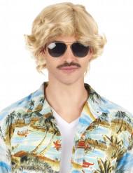 Blond 70er paryk mand