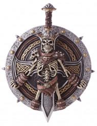 Vikingeskjold og sværd i plast