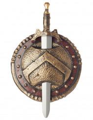 Sparta-skjold og sværd i plast