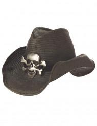 Cowboyhat med dødningehoved