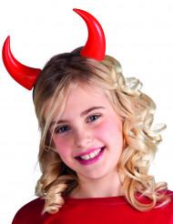 Røde djævlehorn barn halloween