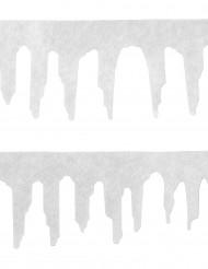Guirlande 2 stk. sne 120 cm jul