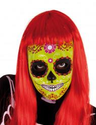 Gul día de los muertos-maske barn halloween