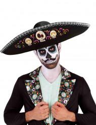 Día de los muertos-sombrero voksen halloween