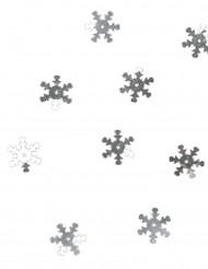 Konfetti til bord sølv snefnug 10 gram