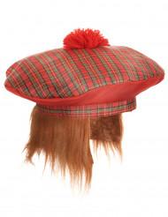 Skotsk baret med pomponer til voksne