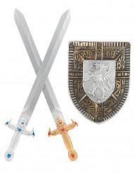 Skjold og to sværd barn