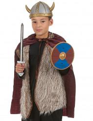 Viking-sæt med sværd skjold og kappe barn