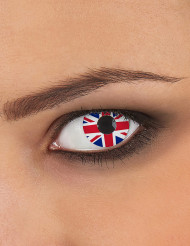Kontaktlinser med det engelske flag voksen