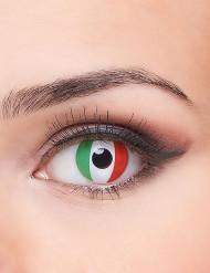 Kontaktlinser med det italienske flag voksen