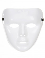 Gør-det-selv blank hvid maske voksen