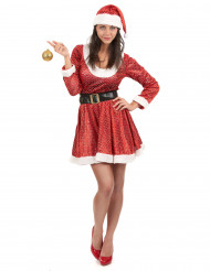 Kostume julekjole med pailletter til kvinder