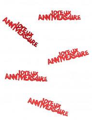 Joyeux anniversaire konfetti i rød
