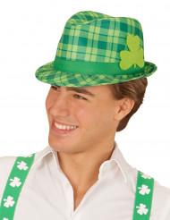 Grønternet hat med trekløvere Saint Patricks Day voksen