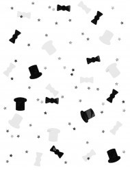 Konfetti sort og hvid