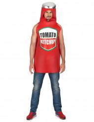 Rød ketchupflaskekostume til voksne