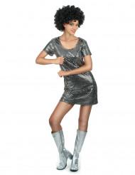 Discokjole sølv kvinde