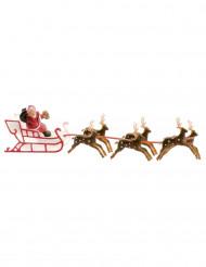 Kagedekoration med julemandens slæde 22 cm