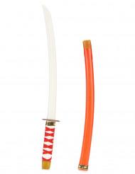 Rødt ninjasværd i plast til børn