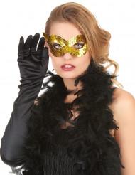 Guldfarvet venetiansk maske