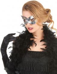 Sølvfarvet venetiansk maske