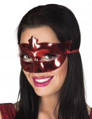 Metalrød venetiansk maske