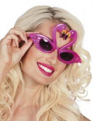 Briller med flammer lyserøde til voksne