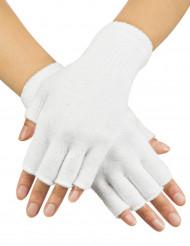 Halvhandsker korte hvide til voksne