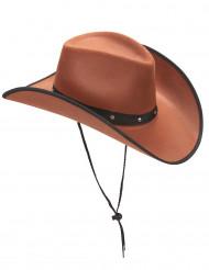 Hat cowboy brun til voksne