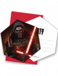 6 Invitationskort med kuverter Star Wars VII™