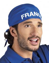Bandana blå supporter Frankrig til voksne
