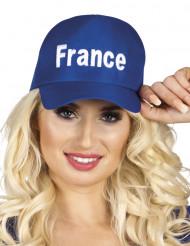 Kasket blå supporter Frankrig til voksne