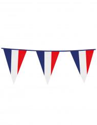 Guirlande med faner franske flag 10 m