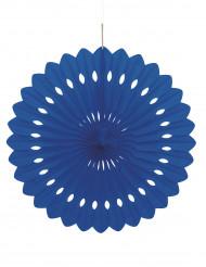 Rosette i papir midnatsblå 40 cm