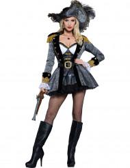 Mrs. Deluxe - Luksus piratkostume til kvinder