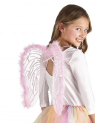 Lyserøde englevinger 40x33 cm Barn