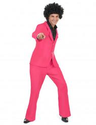 Pink diskokostume voksen
