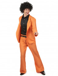 Orange diskokostume voksen